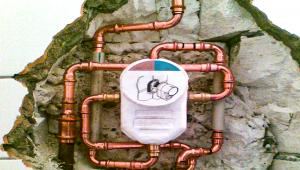 Installation de compteur d'eau